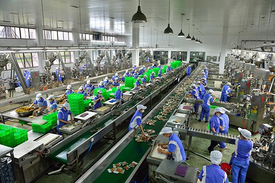 四川省眉山市东坡区打造泡菜品牌,全区泡菜产业产值已达200亿元。图为泡菜标准化生产线(眉山市东坡区委宣传部供图).jpg